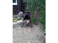 Fire pit chimney