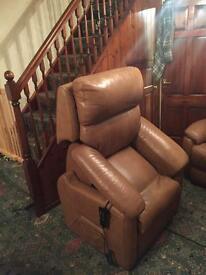 2 leather recliner chairs (1 electric) £150 open to offers