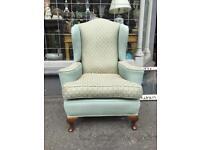 Wingback armchair vintage antique