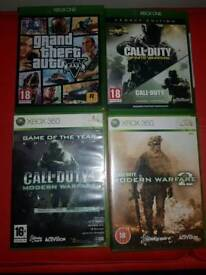 2x xbox one games and 2x xbox 360 games