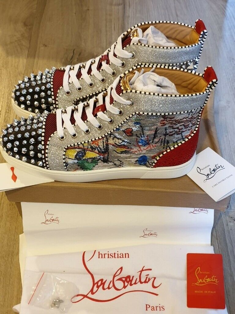 0673d61e757 Christian Louboutin- Men s Spikes Sneakers (Exclusive No Limit F-18 ...