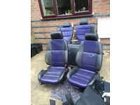 BMW E36 Compact leather seats Rare purple and black colour.