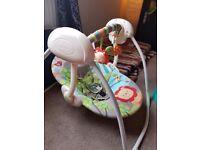 Unisex 'jungle theme' baby swing