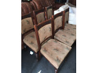 Fabulous Set of 6 Antique Victorian Carved Solid Oak Dinning Chairs