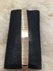 Leonard Swiss Made Gold Plated Quartz Dress Watch