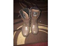 Brown men's boots