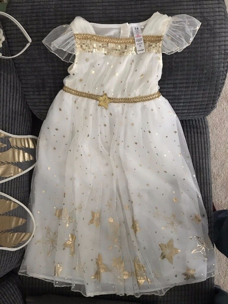 Child angel costume with wings and halo