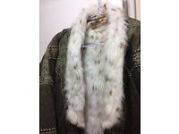 long fur coat/ jacket for high class ladies