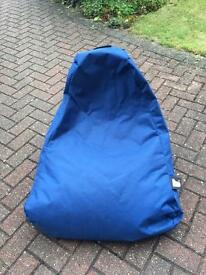 Blue chair beanbag see label for make.