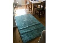 Lovely very soft teal rug