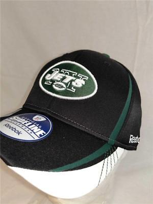 New York Jets Adult Mens Size L/XL Sideline Reebok Flexfit Cap Hat $25