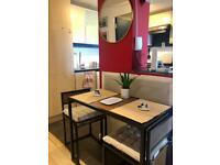 Compact Kitchen Dining Table and Chairs Space Saving - Excellent Coditions