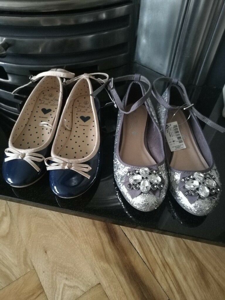 3157d55521e Next Girls silver glitter shoes