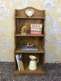 Rustic farmhouse style bookcase / shelving solid pine wood