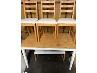 IKEA Table and 4 Chairs LERHAMN