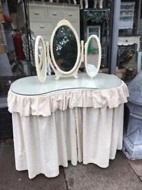 Vintage Kidney Shape Dressing Table & Mirror