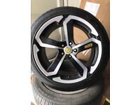 "Audi vw 5/112 dotz Hanso 18"" alloys tyres"
