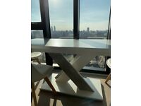 Folding white and grey dining table