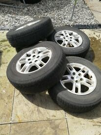 LAND ROVER DISCOVERY 3 ALLOY WHEELS WITH TYRES 235/70/17