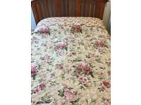 King size floral quilt