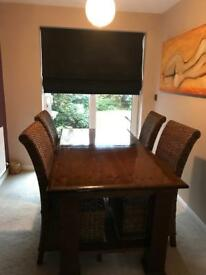 Dining table and chairs. SOLD