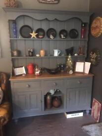 Large pine kitchen dresser