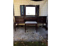Stag mahogany dressing table and matching stool