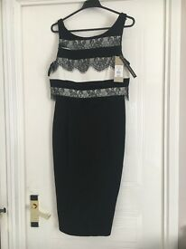 Ladies Coast 'Lee' Dress, colour black & white, new with tags