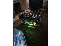2x8 GPU mining rig (8 x ASUS ROG Strix RX 470 8GB 8 x MSI Radeon RX 570 ARMOR 4G OC)