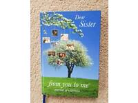 JOURNAL OF A LIFETIME DEAR SISTER FROM YOU TO ME - BRAND NEW