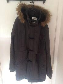 Topman Parka coat Navy Medium £45 ONO