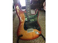 2013 Fender American Standard Stratocaster - Seymour Duncan Pickups - Sienna Burst