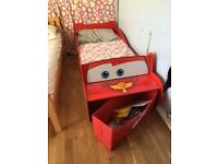 Lighting McQueen toddler bed and mattress