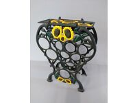 Cast Iron Sunflower Wine Rack
