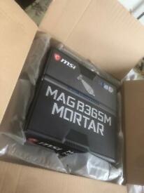 MSI b365m mag mortar motherboard