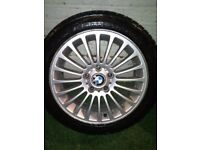 "17"" alloys with winter tires for BMW"