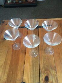 6 cocktail glasses