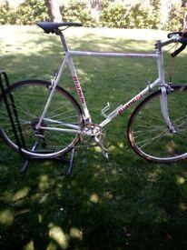 bianchi steel frame bike