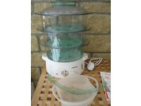 Tefal 3-basket Food steamer, with lid and rice bowl