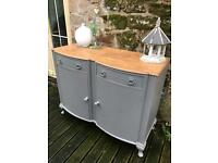 Painted bow fronted sideboard