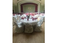 Wedding Chair covers(200) and table cloths(30) for sale £200