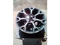 Alloy wheel refurbishment , scratch , dent
