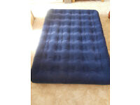 Double Air Bed - Eurohike in navy blue complete with electric pump. Excellent condition.