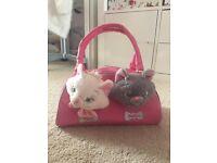 Disney Aristor cats bag and 2 soft toys