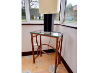 small glass topped display table