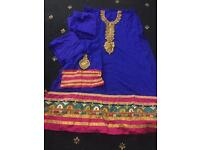 Heavy embroidered fancy wedding Eid party unstitched with beads work amazing offers