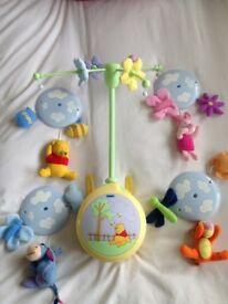Winnie the Pooh cot mobile