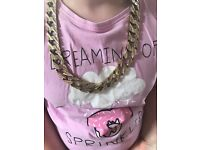 9ct gold very chunky very heavy chain 251.4