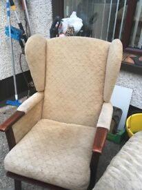 2 seater sofa and armchair to match