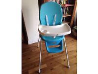 baby lo high chair, good condition, plus free baby bath duck or cot sleep aid